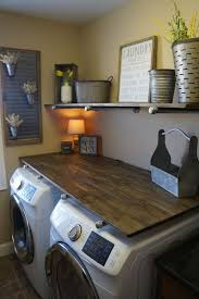 How To Do A Mini Laundry Room Makeover With Rustic Industrial Pipe Shelves For Under 250