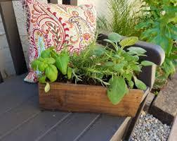 Rustic Flower Box Custom Wood Planter Garden Outdoor Pot Herb