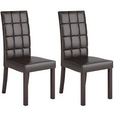 Parsons Chairs Walmart Canada by Corliving Atwood Dark Brown Leatherette Dining Chairs Walmart Canada