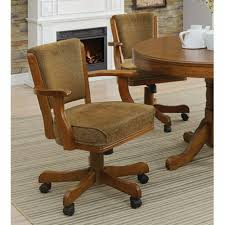 Benzara Cozy Upholstered Rolling Dining Arm Chair   EBay