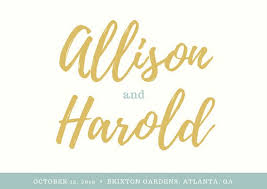 Mustard And Teal Script Font Rustic Wedding RSVP Postcard