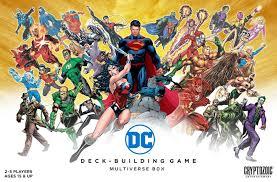 dc deck building game multiverse box board game boardgamegeek