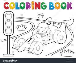Coloring Book Racing Car Theme 1