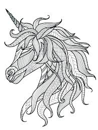 Horse Coloring Pages To Print For Free Unicorns Unicorn Page Pink Fluffy