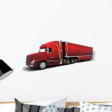 100 Semi Truck Decals Christmas American Trucks Wall Decal By Wallmonkeys Peel And