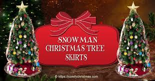 Snowman Christmas Tree Skirt O Comfy