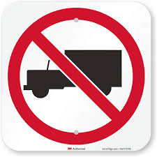 100 Truck Sign Amazoncom No By Smart 12 X 12 3M High