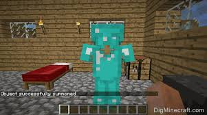 how to summon an armor stand with armor in minecraft