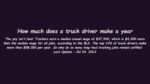 How Much Does A Truck Driver Make A Year - YouTube Starsky Robotics Truck Takes Its First Humanfree Trip Wired 6 Ways To Tackle The Driver Shortage Head On In 2018 Fleet Clean How Much Make Best The Birth Of Money Do Drivers A Year And Heart Diase Commercial Cerfication Guidelines Make Most Money As A Professional Truck Driver Trucker Breast Cancer Diagnosis And Test Types Luxury Big Rigs Firstclass Life Of Nbc Nightly Trucking Companies Are Struggling Attract Brig Become 13 Steps With Pictures Wikihow Hours Service Wikipedia Celebrating During Appreciation Week Sept 9
