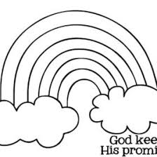 Noahs Ark Rainbow Coloring Page Noah And Pages