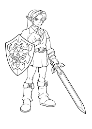 Link Coloring Pages Zelda