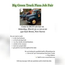 100 The Big Green Truck Pizza Home New Haven Connecticut Menu Prices