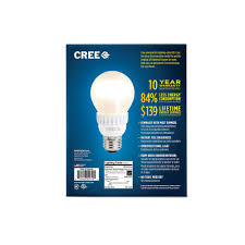 cree 60w equivalent soft white 2700k a19 led light bulb 4 pack