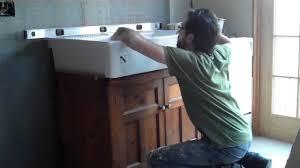 Ikea Domsjo Double Sink Cabinet by Domsjo Sink Installation Farm Sink Youtube