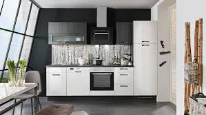 küche susann weiß hochglanz und schwarz mit e geräten