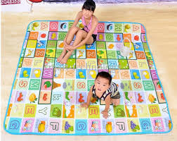 Kids Baby Play Mat Fruit Letters of an Alphabet Game Pattern