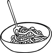 Pasta Coloring Pages Pasta Clipart Coloring Page Pencil And In Color Pasta Clipart