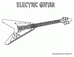 Guitar Coloring Pages To Print Grand Guitars Free Electric Online