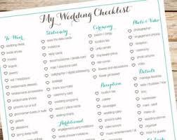 Digital Wedding Checklist Organization Bridal To Do List Itemized Teal