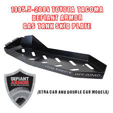 100 Defiant Truck Products 199552004 Toyota Tacoma Armor Gas Tank Skid Plate For Xtra