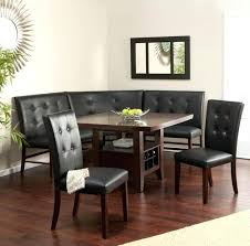 Corner Kitchen Table Set Fantastic With Storage Black Tufted Leather Chairs