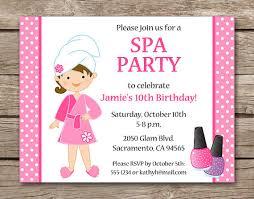 Spa Party Invitation Spa Invitation Spa Birthday Party