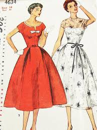 Vintage 50s Dress Pattern Simplicity 4634 By ThePatternSource 3200
