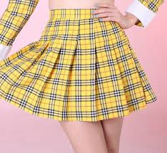 plaid yellow skirt dress ala