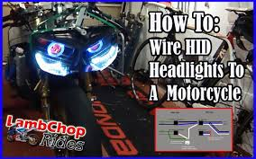 wiring hid headlights to a motorcycle both lights on high low