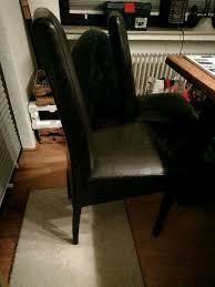6 stühle esszimmer dunkelbraun kunstleder alle zusammen