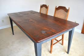 Farm House Rustic Dining Table Style Solid Pine Wood