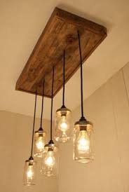 Replace Florescent Kitchen Light Mason Jar Chandelier Lighting By Bornagainwoodworks