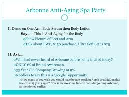 Arbonne Anti Aging Spa Party