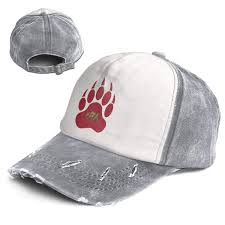 100 Wse Trucking California Bear Paw Top Level Unisex Quick Dry Sun Cap Outdoor