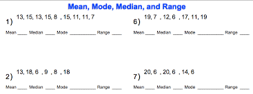 mode median and range world 8 median mode range osky 6th grade math