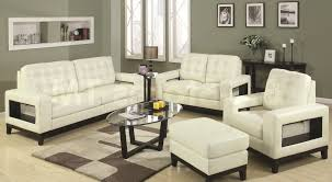 Nice Living Room Couch Sets Ideas White Color Tufted Sofa Oval Shape Glass Wooden Coffee Table Brown Colors Plush Rug Sage Green Wall Paints Small