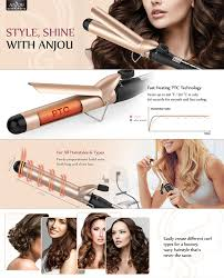 Bed Head Dual Waver by Amazon Com Anjou Curling Iron 1 25 Inch With Tourmaline Ceramic