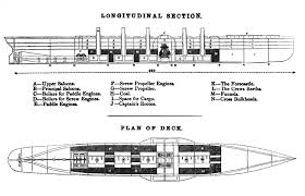 Titanic B Deck Plans by File Ss Great Eastern Diagram Jpg Wikimedia Commons
