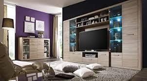froschkönig24 high wohnzimmer set wohnwand komplettset anbauwand eiche sonoma