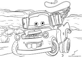 Tow Mater From Cars 3 Disney Coloring Pages