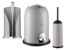 wesco loft 315001 bad set 3 tlg retro design mini master rollenhalter wc bürste