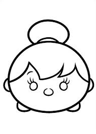 Tsum Tsum Coloring Pages Tinkerbell Coloring Tsum Tsum Coloring