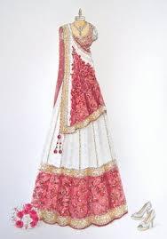 Lipstick Bullet Custom Wedding Saree Sari Sketch Source