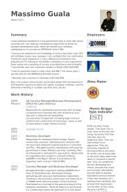 American Cv Example Famous More Us Country Manager Business Development Office For Latin America Resume