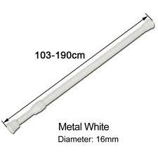 Spring Loaded Curtain Rod 300cm by White Extendable Curtain Pole Ebay