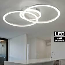 led luxus decken leuchte ring design ess zimmer küchen