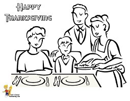 Thanksgiving Family Coloring Pages