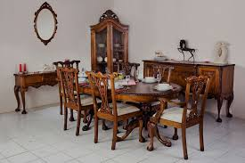 Dining Room Furniture: Table, Chair, Sideboard Handcrafted Of Solid Wood