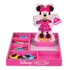 Minnie Mouse Wooden Magnetic DressUp Set By Melissa Doug Xmas