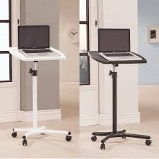 Ebay Computer Desk Chairs by White Black Adjustable Height Small Moving Casters Computer Table